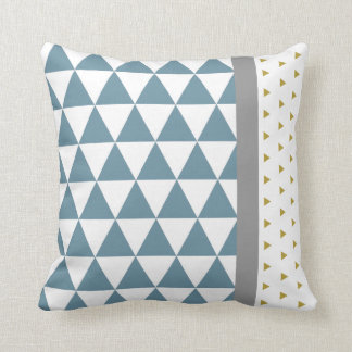 Cushion Triangles Yellow/Gray Blue/
