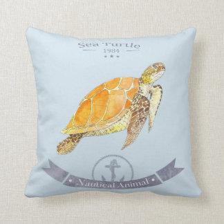 Cushion turtle-navy | Sea Turtle