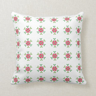 Cushion with christmas flower for new home