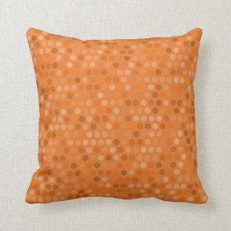 Cushion with Geometric Orange Polka Dot Design