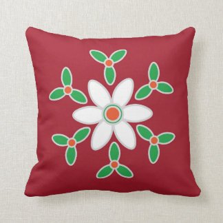 Cushion with large poinsettia motif for new home
