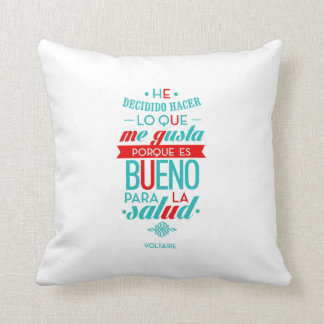 cushion with motivational message