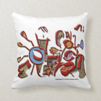 Cushion with print of the work Trombeteiros