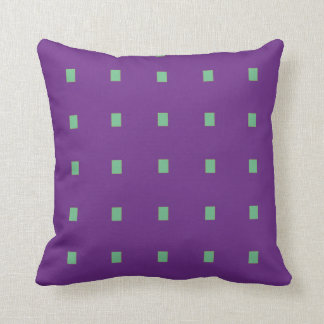 Cushion with purple geometric strawberry pips