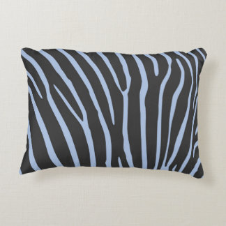 Cushion with stripes of zebra (blue and black)