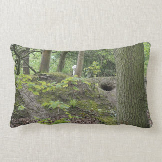 cushion with woodland scene and poodle
