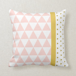 Cushion Yellow Pink Triangles//Gilds