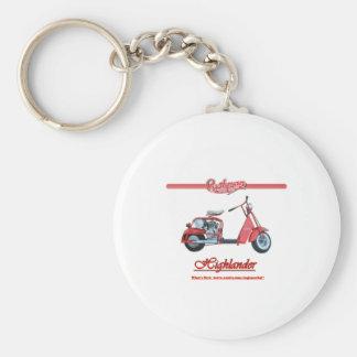 Cushman Highlander Scooter Basic Round Button Keychain