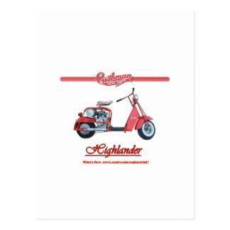 Cushman Highlander Scooter Postcard