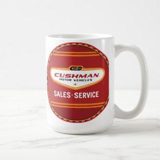 Cushman vehicles vintage sign coffee mug