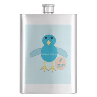 Cusom Blue Birthday Boy Chick Flasks