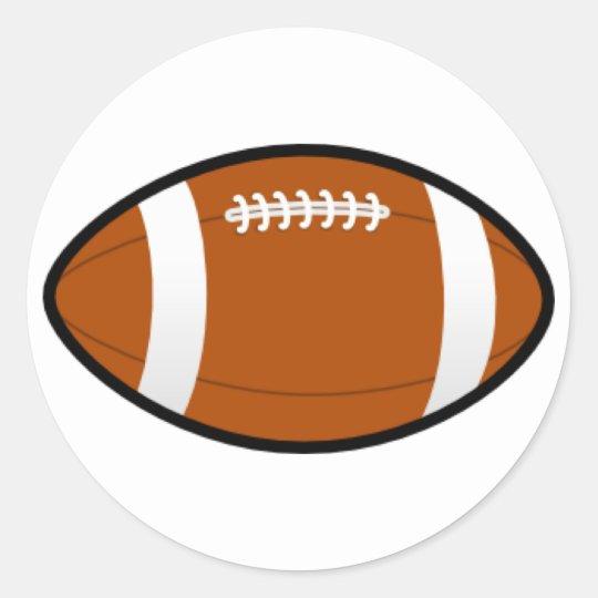 Cusomizable Football Classic Round Sticker
