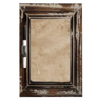 Cusomizable Rustic Frame Dry Erase Whiteboard