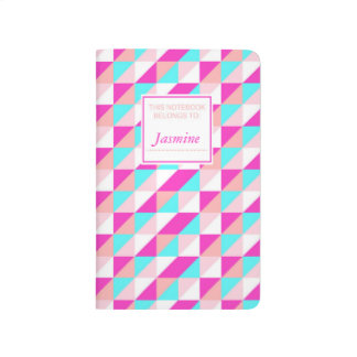 Cusomized Miami Pop Geo Print Notebook