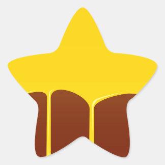 Custard And Chocolate Pudding Star Sticker
