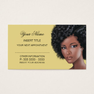 Custard - Beauty Appointment Business Card