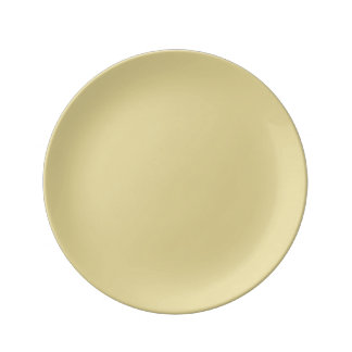 Custard Porcelain Plates