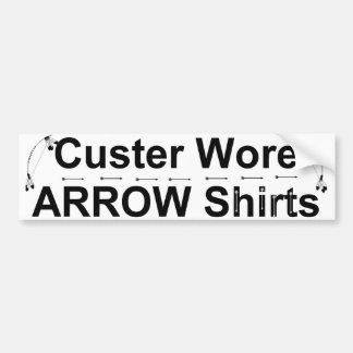 custer arrow shirts bumper sticker