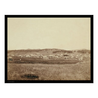 Custer City SD 1891 Poster