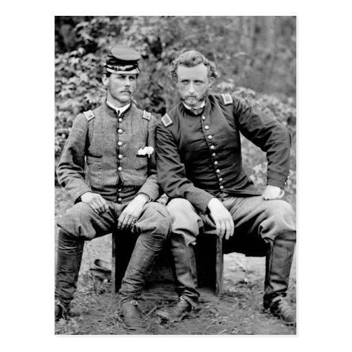 Custer & Prisoner, 1862 Postcards