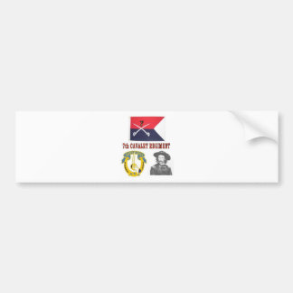 CUSTERS 7TH CAVALRY REGIMENT BUMPER STICKER