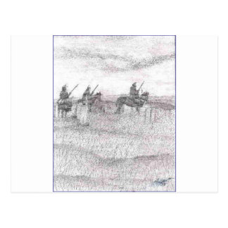 Custers last stand postcard