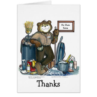 Custodian Greeting Card