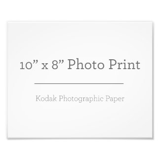 Custom 10 x 8 Photo Print