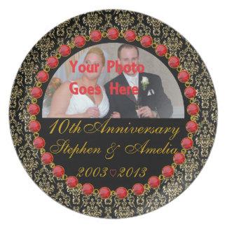 Custom 10th Anniversary Photo Display Plate