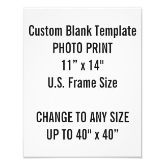 "Custom 11"" × 14"" Photo Print  US Frame Size"