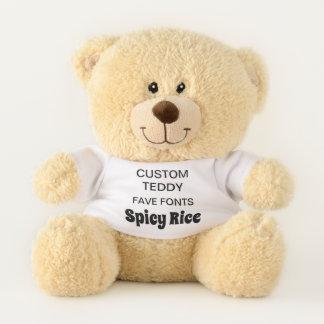 """Custom 11"""" Teddy Bear Toy Template SPICY RICE"""