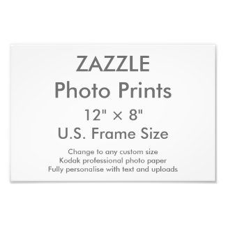"Custom 12"" x 8"" Photo Print (US Frame Size)"