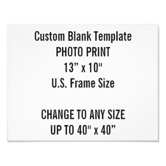 "Custom 13"" × 10"" Photo Print (US Frame Size"