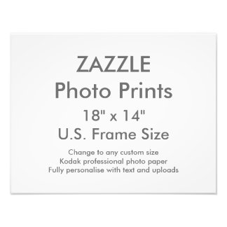 "Custom 18"" x 14"" Photo Print  US Frame Size"