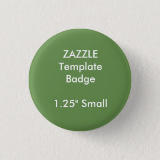 "Custom 1.25"" Small Round Badge Blank Template 1 Inch Round Button"