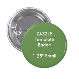 """Custom 1.25"""" Small Round Badge Blank Template 1 Inch Round Button"""