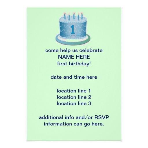 Custom 1st Birthday Invitations