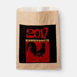 Custom 2017 Rooster Chinese New Year Favor Bag
