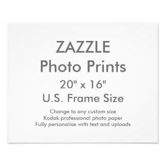 "Custom 20"" x 16"" Photo Print  US Frame Size"
