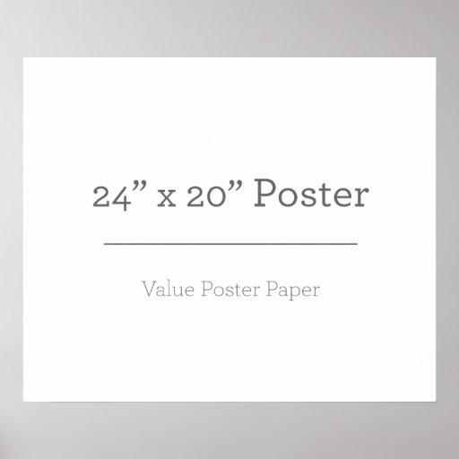 Custom 24 x 20 Poster