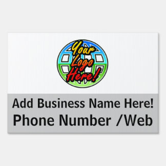 Custom 2-Sided Business Logo Yard Sign, Full-Color