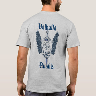 Custom 2 Sided Valhalla Skull T-Shirt