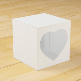 Custom 2x2 Favour Box With Heart Favor Boxes