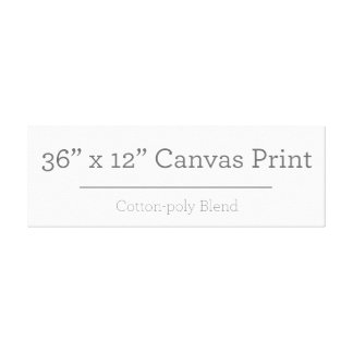 Custom 36 X 12 Canvas