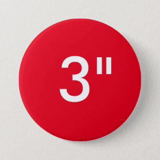 """Custom 3"""" Inch Large Round Button Blank Template"""