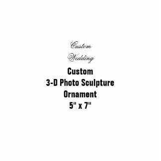 """Custom 3D Photo Sculpture Hanging Ornament 5"""" x 7"""""""