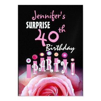 Custom 40th SURPRISE Birthday Party Invitation
