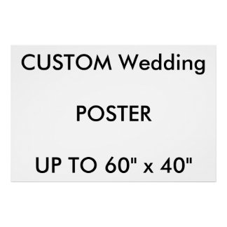 """Custom 48"""" x 32"""" Poster THICK Landscape"""