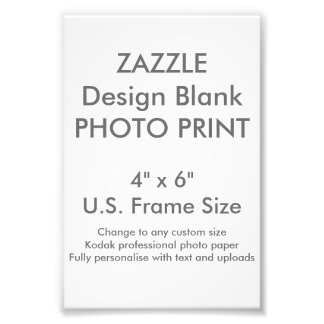 "Custom 4"" x 6"" Photo Print (US Frame Size)"