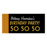Custom 50th Birthday or Any Year Gold Stars V04